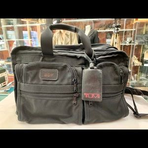 TUMI Black Fabric Briefcase/Travel Bag